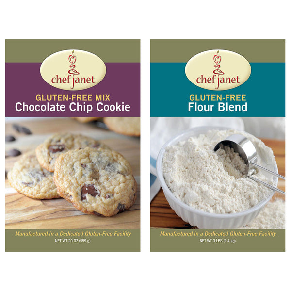 Cookie and Flour Duo - FREE SHIPPING - gluten free Chef Janet K