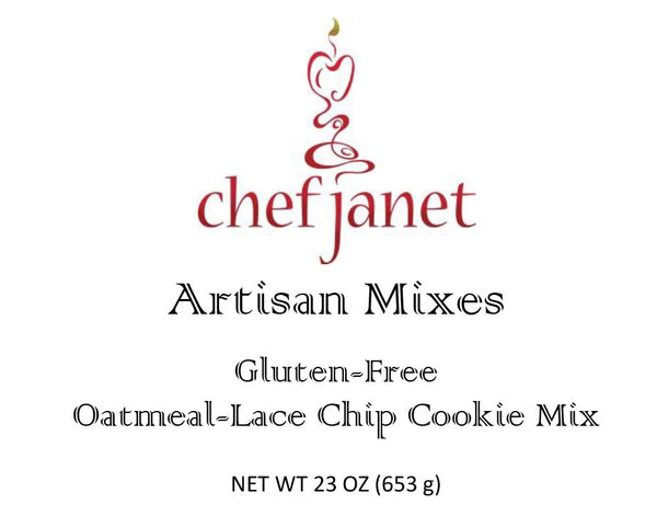 Artisan Oatmeal-Lace Chip Cookie Mix - gluten free Chef Janet K