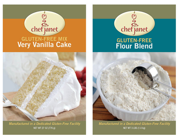 Flour and Cake Duo - FREE SHIPPING - gluten free Chef Janet K