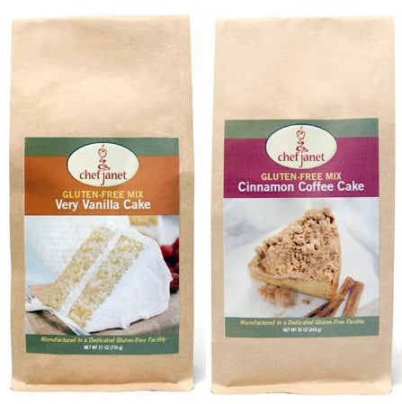 Cake Duo - FREE SHIPPING - gluten free Chef Janet K