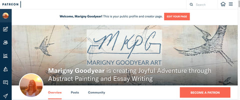 Marigny Goodyear Art Creating Joyful Adventure on Patreon