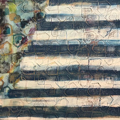 marigny goodyear art abstract painting stripes process