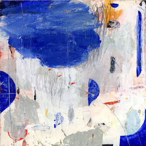 Nicholas Wilton Blue-Storm Abstract Art Mixed Media Painting