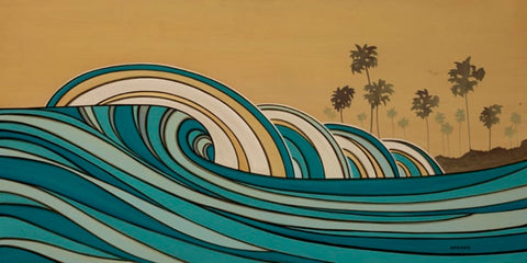 Surf ocean art painting Joe Vickers