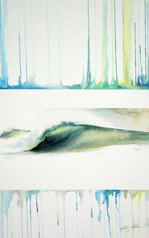 surf ocean art water color painting Heather Ritts