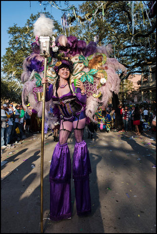Mardi Gras Costume Stilt Walker New Orleans