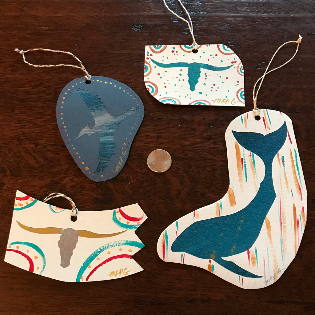 Original Art Paper Ornaments #9