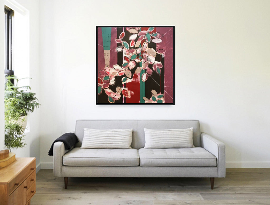 Marigny Goodyear Art Cherry Blossoms Mixed Media Abstract Painting