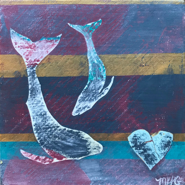 Marigny Goodyear Art Reclaimed Diving Heart
