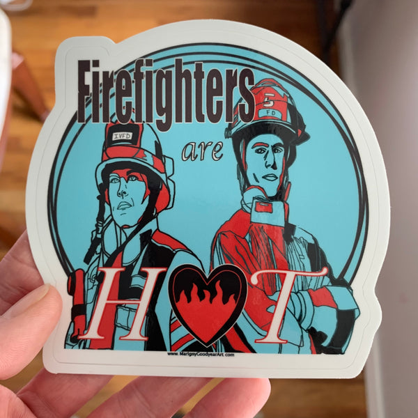 Marigny Goodyear Art Firefighters are hot