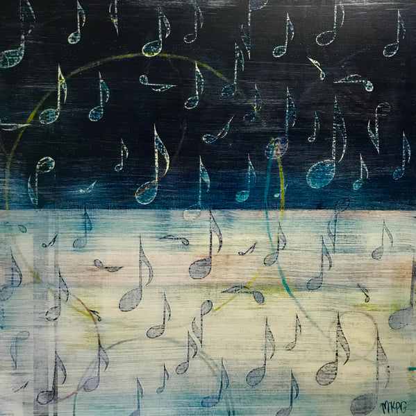 Marigny Goodyear Art Music Abstract Mixed Media Painting
