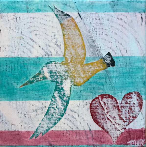 Marigny Goodyear Art Reclaimed Soaring Heart