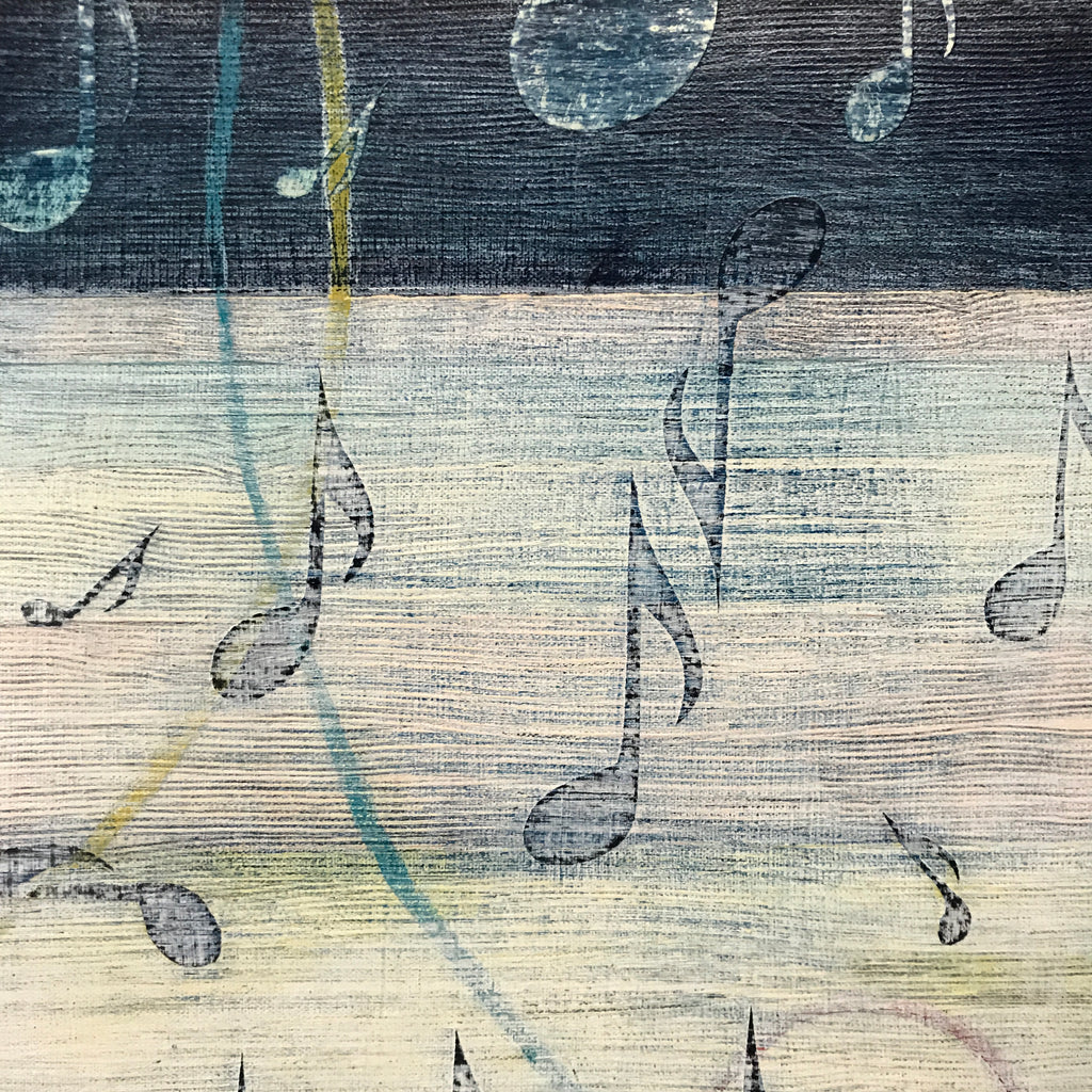 Marigny Goodyear Art Music Detail Abstract Mixed Media Painting