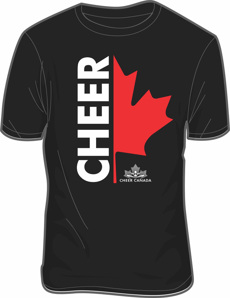 Canada Cheer Screenprint T-shirt