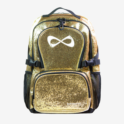 Nfinity Gold Sparkle Backpack - White Logo