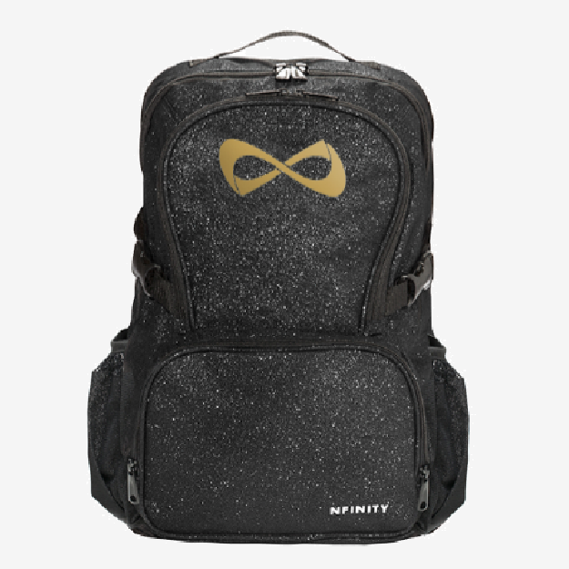 Nfinity Black Sparkle Backpack - Gold Logo