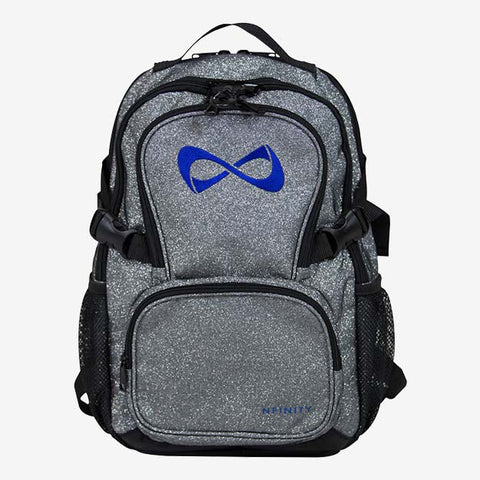 Nfinity Black Sparkle Backpack - Teal Logo
