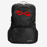 Nfinity Black Sparkle Backpack - Red Logo