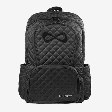 Nfinity Black Sparkle Backpack - Royal Logo