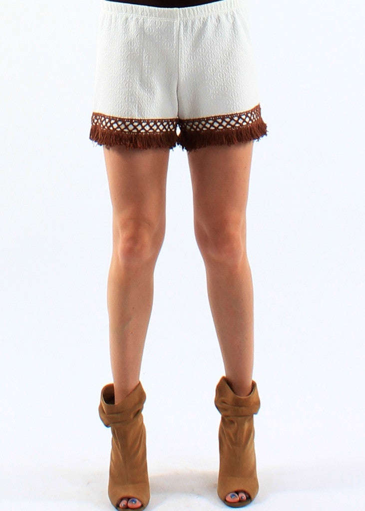 Shorts with Brown Trim