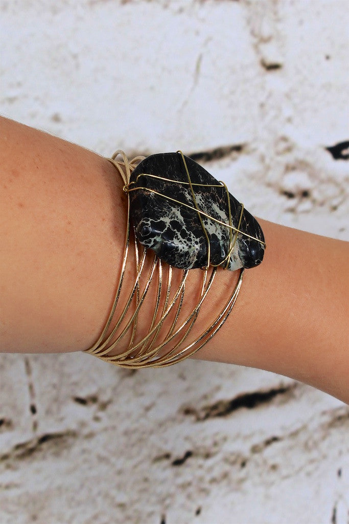 A Place In This World Gold Wire Cuff