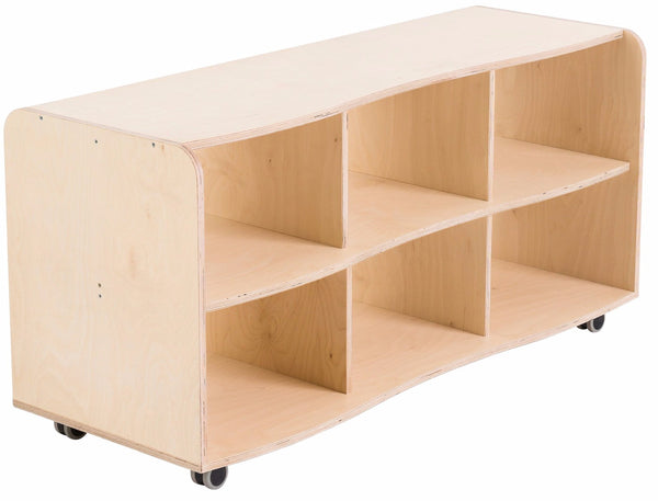 Curved Modular Six Cubby Hole Storage Unit