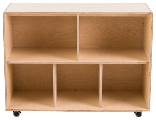 Modular Closed Back Five Cubby Hole Unit