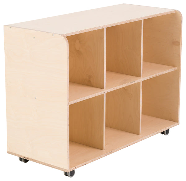 Modular Closed Back Six Cubby Hole Unit