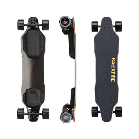 BACKFIRE G2 BLACK WITH SUPER POWER HOBBYWING MOTORS AND 96MM WHEELS