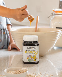 Anzac Biscuits with Kids Floral Honey