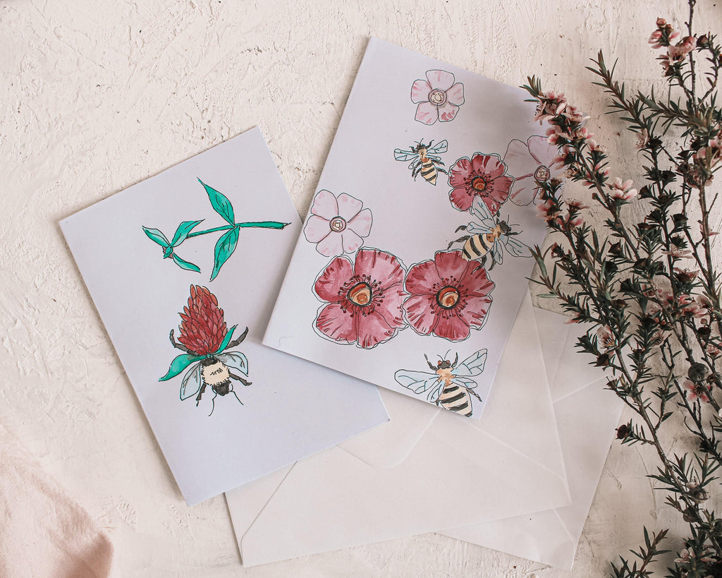 Hand Painted Honey Gift Cards