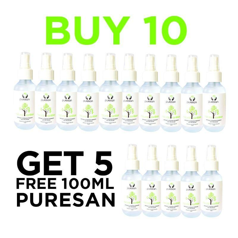 Puresans Natural Hand Sanitiser: BUY 10 GET 5 FREE 100mls