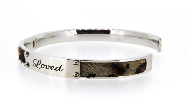Stainless steel bangle with steel ID plate - ON SALE!
