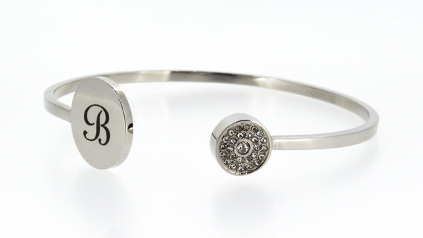 Diamonte Wedding cuff - FREE Engraving