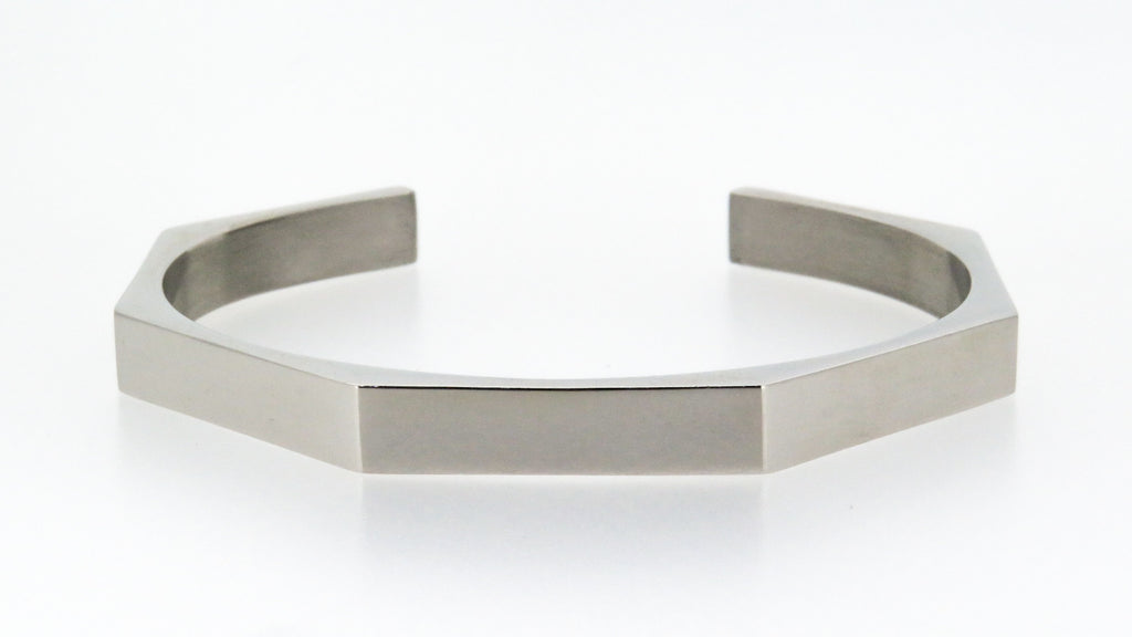 Silver hex bangle - engrave up to 7 names or words... FREE!
