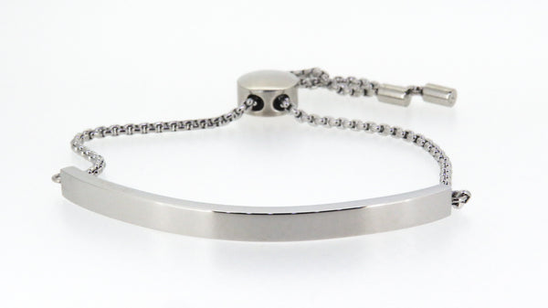 Stainless steel adjustable bracelet