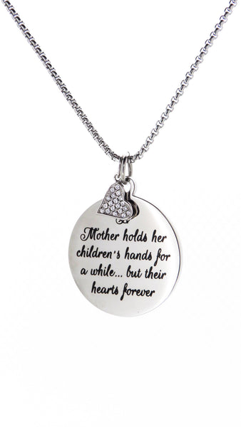 Sentimental Quote Pendant 30mm - FREE Engraving