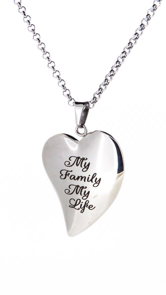 Sentimental Quote Heart - Large