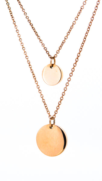 round pendant rose gold personalised engraved