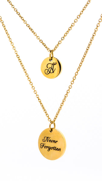 round pendant gold personalised engraved