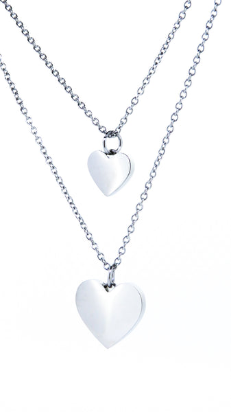 Heart pendant silver personalised