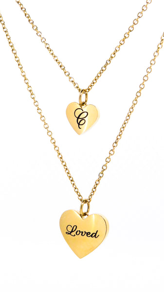 Heart pendant gold personalised