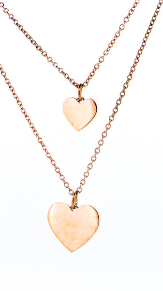 Heart pendant rose gold personalised