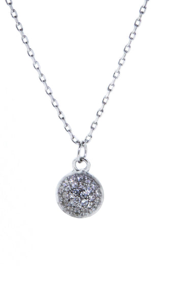 Sterling Silver Necklace - Just Roll With It - Ball - Silver