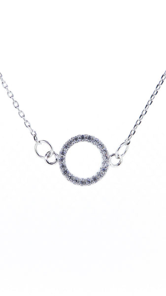 Sterling Silver Necklace - Family - Circle - Silver