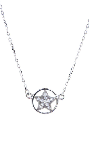 Sterling Silver Necklace - You're a Star, You Did It! - Star - Silver