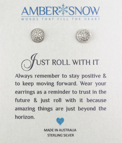 Sterling Silver Earrings - Just Roll With It - Ball - Silver