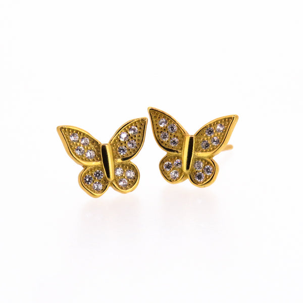 Sterling Silver Earrings - The Conqueror - Butterfly or Arrow - Gold