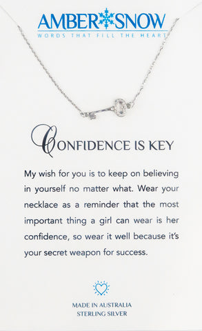 Sterling Silver Necklace - Confidence Is Key - Silver