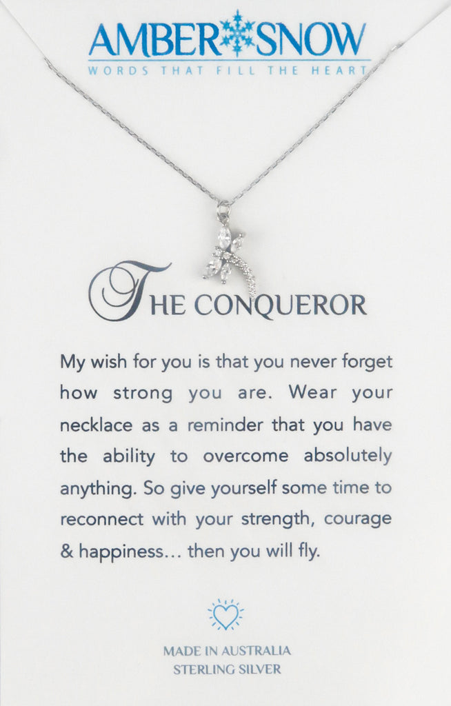 Sterling Silver Necklace - The Conqueror - Dragonfly - Silver
